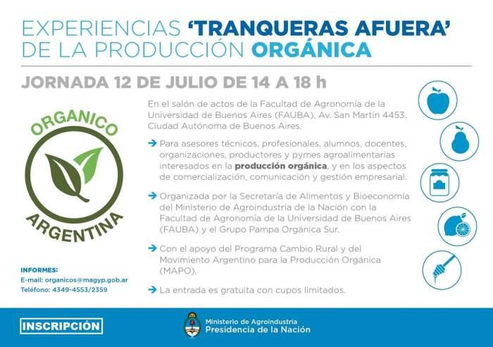 """Jornada de producción orgánica """"Tranqueras Afuera""""."""