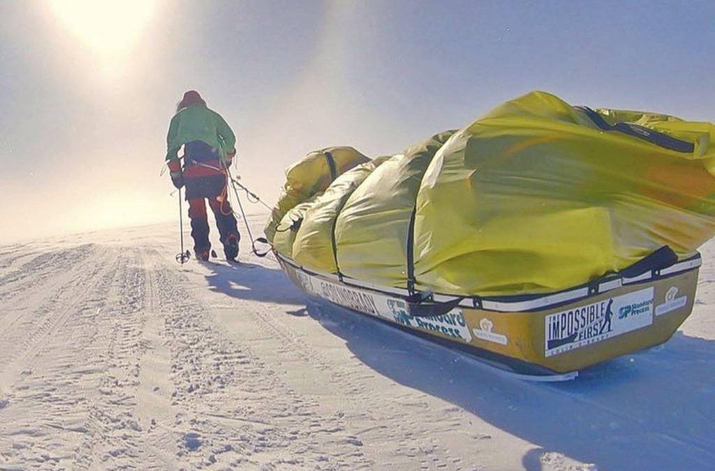 Un hombre cruza la Antártida a pie, solo y sin ayuda por primera vez