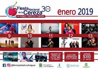 """Los Antiguos invita al país a su 30ª Ediciòn de la """"Fiesta Nacional de la Cereza"""""""