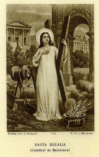 La Iglesia Católica celebra la memoria de Santa Eulalia de Barcelona, virgen y mártir