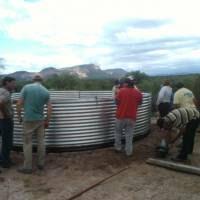 Mejoran el almacenamiento de agua para actividades productivas en La Rioja