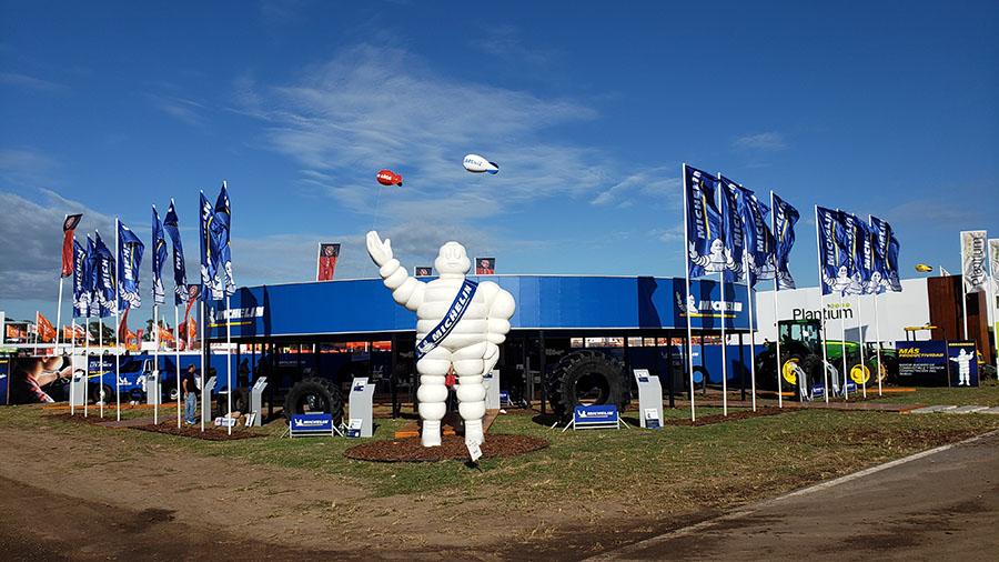 Productividad sobre ruedas: Los neumáticos radiales Michelin se lucen en Expoagro