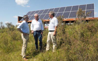 En Entre Ríos, realizan un ensayo experimental de riego con energía solar