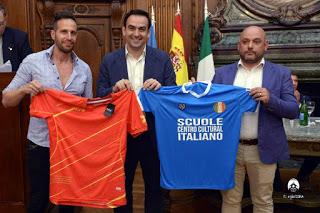 Las colectividades de España e Italia firmaron un importante convenio