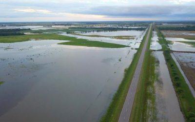 Las zonas inundadas de Chaco lograron esquivar los milimetrajes de importancia