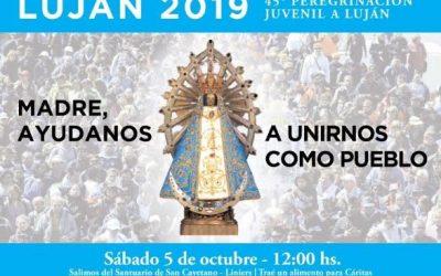 La 45 Peregrinación Juvenil a Luján se realizará el 5 de octubre