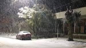 Nieva en Mar del Plata y en varias ciudades del interior de la provincia de Buenos Aires