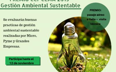 Premio CCI- CEMA 2019 Gestión Ambiental Sustentable
