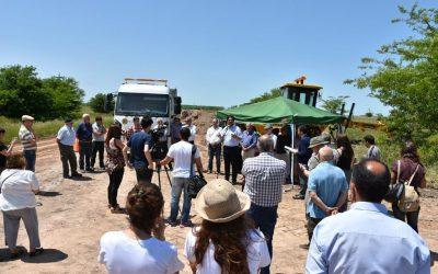 Comenzaron los trabajos de reparación de caminos rurales en Brandsen, Buenos Aires