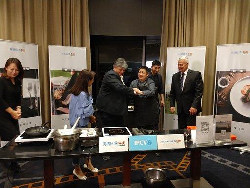 Clases on line de cocina con carne vacuna argentina en China
