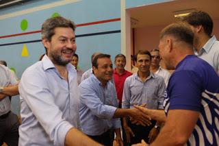 El nuevo ministro de Turismo y Deportes Matias Lammens recorrió Posadas junto al gobernador Herrera Ahuad