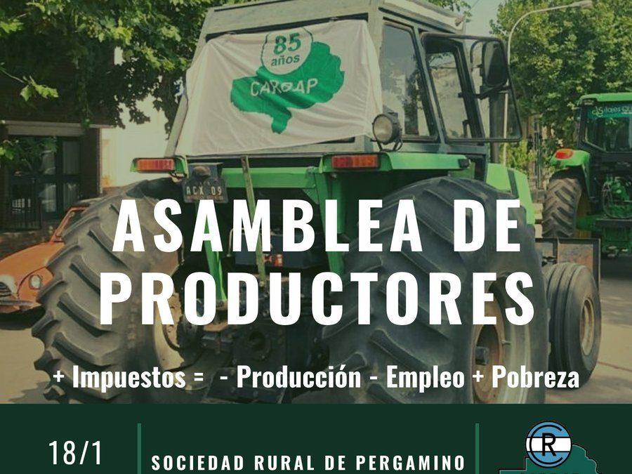 Carbap convoca a una nueva asamblea de productores en Pergamino