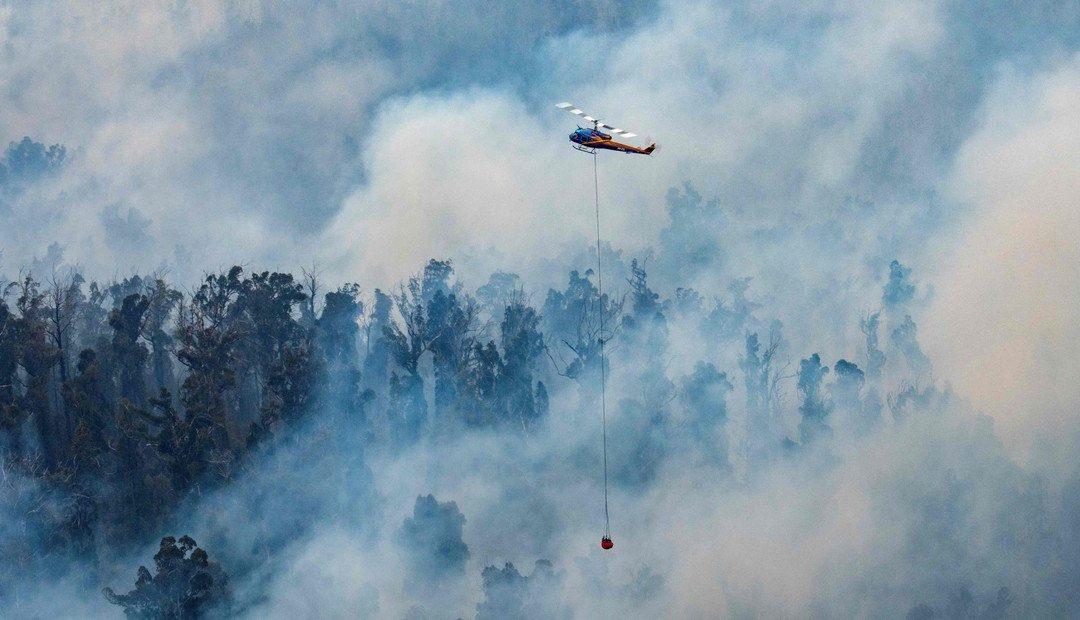 El humo de los incendios de Australia ingresó a la Argentina desde Chile