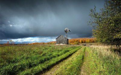Precipitaciones sobre una diagonal noroeste a sudeste del área  agrícola