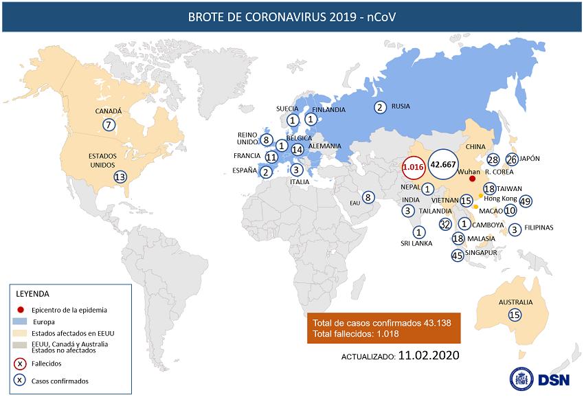 Ya son 43.118 los casos de coronavirus y 1018 los fallecidos