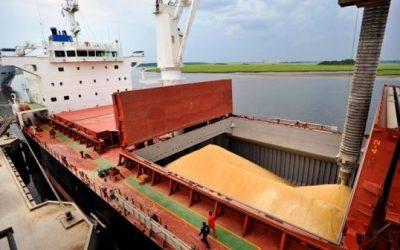 Los puertos recibieron un 40% menos de granos pese al avance de la cosecha