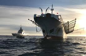 Capturaron un buque extranjero chino pescando ilegalmente en la Zona Económica Exclusiva Argentina