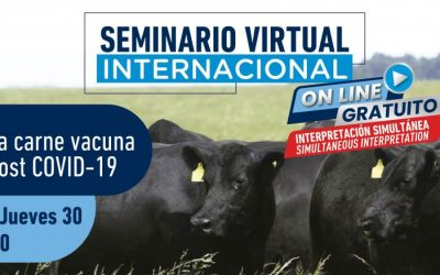 Mañana comienza el Seminario Internacional del IPCVA: El desafío de la carne vacuna en el mundo post COVID-19