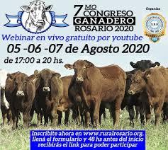 5, 6 y 7 de Agosto: #Congreso Ganadero 2020 desafíosde la Ganadería para el nuevo mundo