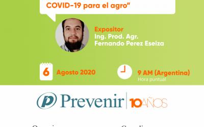 Seminario: Prevención de Covid-19 en la actividad agropecuaria