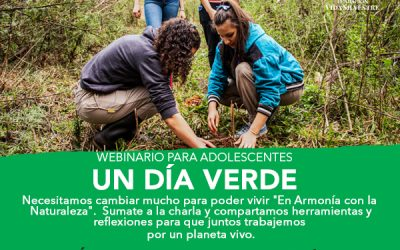 """Vida Silvestre invita a adolescentes a tener """"Un día verde"""" desde sus casas."""