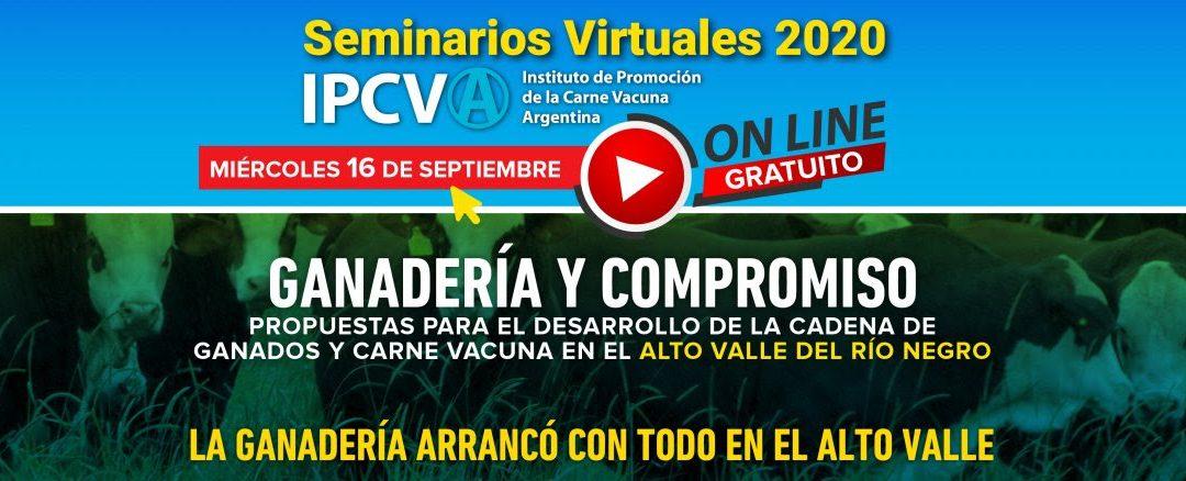 16 de septiembre de 2020: Seminario ganadero virtual del IPCVA en Río Negro