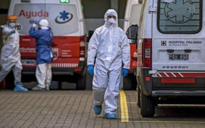 Reportaron 12.725 nuevos casos y 135 muertes por coronavirus en las últimas 24 horas en el país