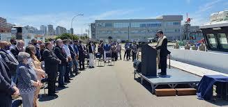 """Basterra participó del bautismo del flamante buque del INIDEP """"Mar Argentino"""""""