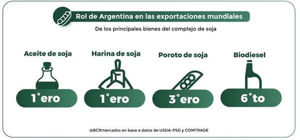 Argentina será nuevamente el principal proveedor de harina y aceite de soja a nivel mundial