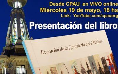 VIVOpresentación libro Evocación Conf. Del Molino en CPAU. Biblioteca AANBA