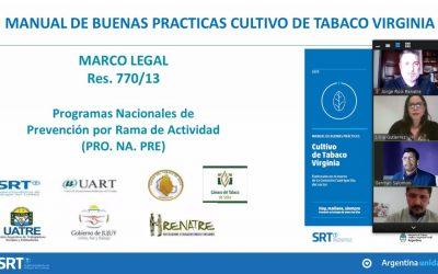 El RENATRE Jujuy participó de una capacitación sobre Buenas Prácticas Agrícolas en el Tabaco